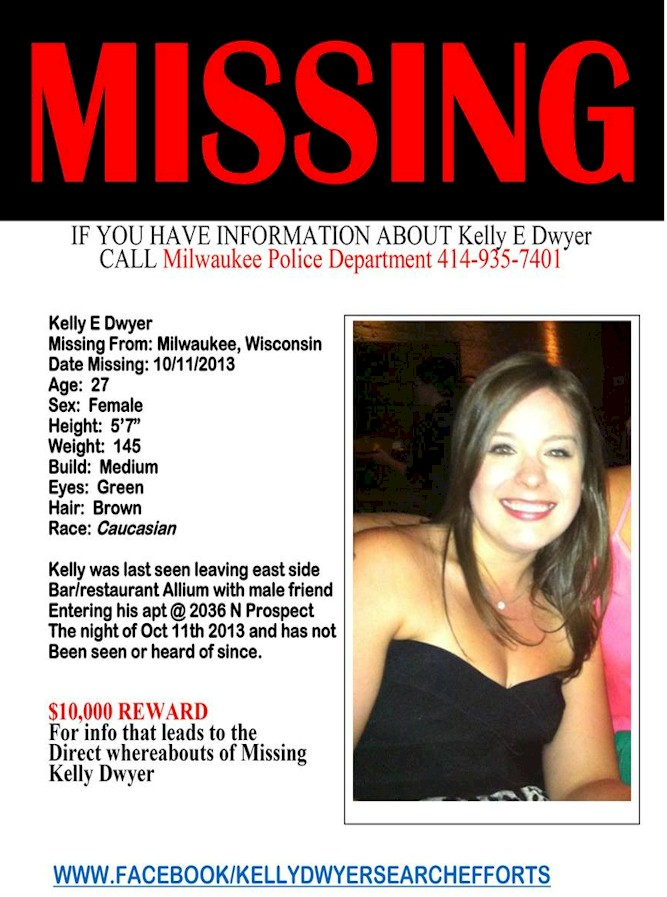 Kelly Dwyer Missing People Help – Missing Person Flyer