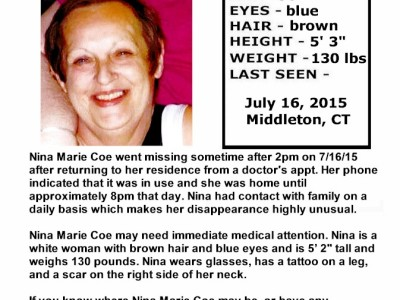 Nina Marie Coe – Middleton, Ct